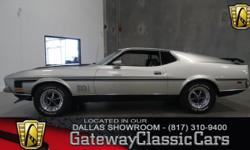See this 1972 Ford Mustang Mach 1 on display in our Dallas, Texas showroom. For sale in our Dallas showroom is a beautiful 1972 Mach 1 Mustang. One of the things we hear a lot about this car is that s