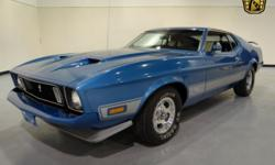 Stock#226NDY This vehicle is located in Carmel, IN. 14 miles north of downtown Indianapolis, IN 317-688-1100 1973 Ford Mustang Mach 1 ENGINE: 351 CID V8 BODY: 2DR CP TRANSMISSION: 4-Spd Manual EXTERIO