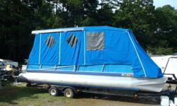 1978 Aloha 24 ft Party Barge with 50 hp Johnson SPL with full enclosure. Short term financing available with no credit check. Most boats we require $500.00 down with easy monthly payments. We also off