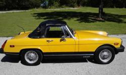 Make: MG Model: MGB Year: 1978 Body Style: Convertible Exterior Color: Yellow Interior Color: Black Doors: Two Door Vehicle Condition: Good  Price: $12,000 Mileage: