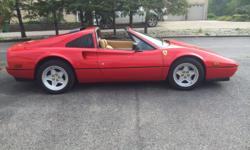 Ferrari 328 GTS. Runs great and looks great. Minor scratches and defects. Interior is 25% worn. Tires are 10% worn. Timing belt done and oil change.