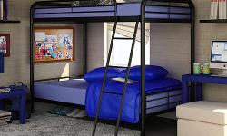 Twin over Twin Bunk Bed Set w/2 mattresses. List price: $359.00 Our Price: $199.99. Visit us at B & & B Discount Sales for a twin over twin metal surface bunk bed with 2 bed mattress minimized to $199