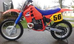 This bike is in very good condition with many upgrades, ready to ride and needs nothing. FMF Gnarly pipe, Stealhy flywheel weight, pleated gripper seat, fresh tires, o-ring chain and carbon fiber chai