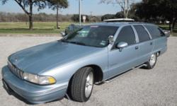 Here is your chance to own a nice example of a 1992 Chevrolet Caprice station-wagon automobile. This light metallic blue nine-passenger wagon was purchased in San Marcos, Texas, until purchased by me,