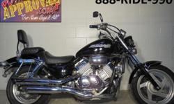 1997 Honda Magna 750 V-4 motorcycle for sale only $1,999!! All black, tons of chrome. This is a sharp bike! 750 CC V4 motor! This Magna is quick! Great bike for only $1,999!!  <a href