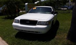 1999 White Ford Crown Victoria $3250 Automatic 4-doors Rear child safety locks Automatic locks windows & mirrors. A law enforcement version of the Ford Crown Victoria, the 1999 Ford Police Interceptor