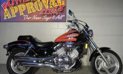1999 Honda Magna 750 motorcycle for sale only $2,999! Wow, check this one out! Black and orange paint, with tons of chrome and Quad exhaust! One of the best motorcycles Honda ever built! V4 motor make