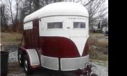 FOR SALE: 1971- 2 horse bumper pull thoroughbred sized trailer for $2,200 OBO. Clear title in hand. Trailer has new lights, new wiring, new safety chains, new plug and wiring harness. The trailer fram