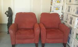Two matching chairs purchased from Rooms to Go for $648.00 Will sell both as a set for $300.00 Microfiber material. Serious inquiries only. Located in Fort Mill SC.