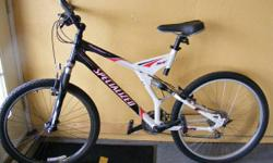 """Specialized Rock Hopper and Crossroads. 1) Rock Hopper complete suspension mtb, XL or extra huge (approx 5'8"""" to 6'2"""" rider height). Rhino lite rear wheel, Specialized seat, platform pedals, Oury gips"""