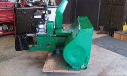 for sale 2 stage snow blower for john deere 315-316-317-318 or other models--complete with quick connect , brand new briggs 1650, electric or pull start motor (2 hrs) on motor, i built this unit , it