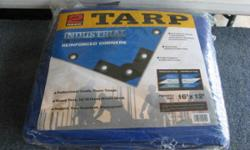 2 Pack tarps 16' x 12' Brand new still in the packaging. Professional grade super tough Heavy Duty 14/14 Cross Weave Mesh Rugged Tear Resistant water Proof Asking $30.00 at home depot this would be 47