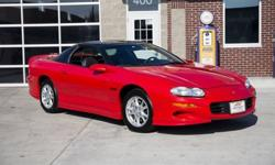 This 2001 Chevrolet Camaro Z/28 has a 5.7 Liter LS1 Performance Built V8, 6 Speed manual Transmission w/ Short Throw Shifter, T-Tops, Sport Appearance Package, Body Side Moldings, PRC Stage 1 Cylinder