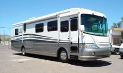 2001 Coachmen Sports Coach Single Slide Model: 381KS 38.5 FT Caterpillar Diesel 330 Horsepower 7.2 Liter Odometer: 32623 Sleeps up to 6 Vehicle ID Number: 4UZ6XJCA0YCG87800 Primary Color(s): IVORY ***