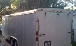 HaulMark Trailer in Excellent Condition. Like new dual axel ( tandem axel )cargo trailer, 7000LBS GVWR, Great Harley hauler , Car Hauler, Great for Lawn Service and excellent and cheap large storage,