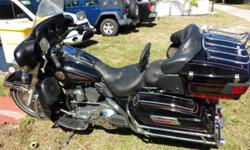 """I have a very nice Harley Electra Glide Classic 5"""" air drop shocks mileage 48292 would consider trade for Fat boy or Heritage of greater or equal value look at all pictures there is some wear as seen"""