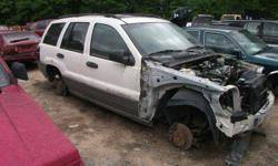 Hello & Thanks For Looking !!  Up for parts we have a 2001 Jeep Grand Cherokee. White in exterior color and gray leather interior. The front bumper, fenders, grille, rear hatch, etc has actually been