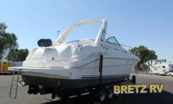 2001 Sea Ray Sundancer340 Twin 8.1 liter Horizon v twin 410hp each. Cutty cabin sleeps 6, generator, full kitchen. White leather interior upgraded Bose sound system, Bimini top with full rv enclosure.