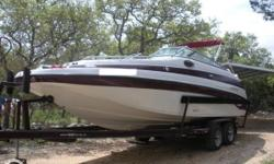 """- Stock #76493 - This freshwater only 2002 Crownline 239 DB is a rare find indeed! She comes equipped with many items you will not find on many 239 DB's. Options like the """"High-Altitude Package"""" that"""