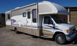 31 motorhome on a Ford chassis in very good condition. V10 engine with less than 50k miles and averages 11 mpg. Fresh oil/filter change on engine and 4kw generator. New calipers and brake pads on the