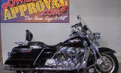 2002 Harley Davidson Road King with tons of chrome for sale only $7,900! Look at the chrome on this bike! Chrome front end, Chrome transmission, Willie G Skull package, Willie G grips, Floor boards, G