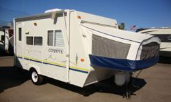 Hey Check out this Ultra-Lite Hybrid travel trailer! You can pull it with any light duty truck or SUV! 2 Pop Outs and a booth style dinette that turns into a bed arrangement for a maximum sleeping cap