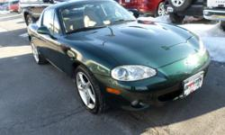 6SPD TRANSMISSION*LEATHER INTERIOR*POWER WINDOWS*CD*CRUISE*ALLOY WHEELS**HARD AND SOFT TOP*1 OWNER TRADE*DRIVES*RIDES*HANDLES*SMOOTHLY.*PLEASE COME DRIVE THIS MIATA AND BE READY FOR THE SUMMER AND HAV