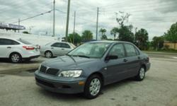 2002 MITSUBISHI LANCER          NICE AND CLEAN, LOW MILES, GREAT ON GAS , FLORIDA CAR AND A LOCAL NEW CAR DEALER TRADE IN    NO