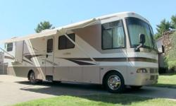 2002 Monaco La Palma 36PED class A gas motorhome, fully loaded, 36 foot long, (2) slide-outs, Workhorse chassis, 8.1 liter gas engine, 5-speed automatic w/ overdrive, 18099 miles, hydraulic leveling s