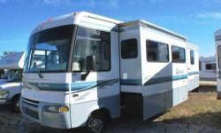 2002 Winnebago Itasca Sunrise. This Class A recreational vehicle has 16000 miles and is in great condition- Total length of it is 34 feet long and can sleep up to 6 adults comfortably- Exterior color