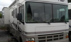 Pre-Owned 2003 Fleetwood RV Flair 33R Motor Home Class A - 2 Slide Outs Length: 33 ft 0 in Hitch Weight: 5000 lbs Sleeps: 6 Slides: 2 Mileage: 28100 Stock Number: M2041 If interested please call us at