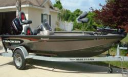 THIS 2003 TRACKER V-18 TOURNAMENT LOOKS MORE LIKE A 2008 THAN A 2003. SHE IS IN ABOVE AVERAGE CONDITION FOR THE YEAR. THE TRACKER TOURNAMENT V-18 FISHING BOAT IS A COMPETITION CONTENDER FROM THE WORK
