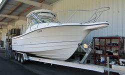 2003 Trophy model 2902 Walk Around Cuddy 20th Anniversary Edition. 31 length, this is the best of both worlds, a versatile sport fisher with large cockpit and interior cabin with great weekend accommo
