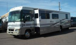 2003 Winnebago Adventurer Model: WFG35U 35.5 FT GAS Class A Motor Home **DOUBLE SLIDE ** WORKHORSE CHASSIS Powered By GM 8.1 L 4-Speed Transmission ***OVERDRIVE***CRUISE*** Odometer: 60,977 Sleeps up