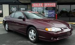 2004 Chevrolet Monte Carlo SS 2dr Coupe - LOW FINANCING STK#9140 fuel:gas title status:clean transmission:automatic Take a look at this 2004 Chevrolet Monte Carlo SS with a Clean Car