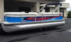 Best cruise for the Harris FloteBote 220 Super Sunliner is 11.0 mph (17.7 kph), and the boat gets 3.78 miles per gallon (mpg) or 1.61 kilometers per liter (kpl), giving the boat a cruising range of 85