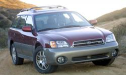Featuring a anti-lock brakes, be sure to take a look at this 2004 Subaru Outback 2.5 Base before it's gone. It has a 2.5 liter 4 Cylinder engine. This one's on the market for $5,494. Stay safe with th
