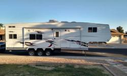 2005 Eclipse RV Attitude. Very clean and a Wide Body Toy Hauler unit in great condition- Large Cargo area in the rear section as well- Will fit a full size Sand Rail- Will also fit 2 full size Quads s