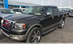 Ford F-150  Odometer is 91982 miles below market average!  **Leather Seats**, **Fresh Trade**, **Great Service History**, **MUST SEE**, 4D Crew Cab, 5.4L V8 EFI 24V, Black Clearcoat, ABS brakes, Compa