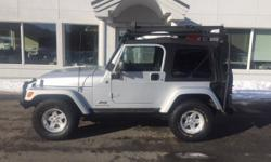 Warn Winch, New Top, PowerTech 4.0L I6. 2005 Jeep Wrangler X Silver 4WD PowerTech 4.0L I6  Options:  2 Door|Am/Fm Stereo|Automatic Locking Hubs|Black Bumpers|Body-Colored Grille|Bucket Front Seats|Cargo Tie Downs|Center Console: Full With Locking