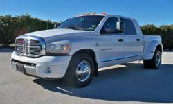 --Vehicle Information-- Stock: 4406AMG Year: 2006 Make: DODGE Model: RAM 3500 LARAMIE MEGACAB Engine: L6 5.9L CUMMINS TURBO DIESEL Trans: AUTOMATIC TRANS Body: 4DOORS MEGACAB Exterior: WHITE Interior: