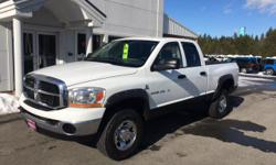 Cummins 600 5.9L I6 DI 24V High-Output Turbodiesel and 4WD. Extended Cab! Diesel! Are you still driving around that old thing? Come on down today and get into this rock solid 2006 Dodge Ram 2500! New Car Test Drive said it '...offers big power and big