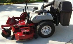 "2006 Exmark Lazer HP 56"" Deck 27 HP Kohler air cooled 2 bag collection system LHP27KC565 636.7 hours on the machine I purchased the mower new in 2006 from the dealer. I had the bagger/blower unit setu"