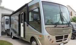 Model 32VS with 2 slide-outs. A super nice, one owner, Class A coach in a manageable size. Built on a Workhorse W22 Chassis and powered by a GM Vortec 8.1L V-8 rated at 340 hp, auto trans, 34,370 mile