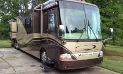 This is a nice 2006 Newmar Mountain Aire Model 4304 that is powered by a Cummins ISL 400HP engine with has very LOW MILEAGE WITH 28,500 miles and has been continually stored indoors. This 43 ft excell