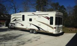 Stock Number: 726361. Beautiful 36' 2007 Carriage Cameo. Note, this trailer is titled as a 2007 but has a 2008 floorpan (check nada values for 2008 35SB3). It has gorgeous dark wood throughout, Mor/ry