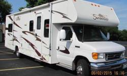 2007 Forest River, Sunseeker, Class C Motor Home. It has 27,154 miles on it. 31 feet long and a Ford 450 V10 motor, like new condition. Aluminum Frame Construction, Basement Storage Area, Driver Doors