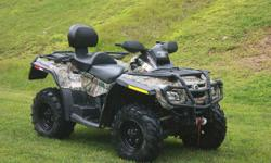 2008 CAN AM OUTLANDER MAX XT 731 ORIGINAL MILES COMES WITH WARN WINCH CAMO COLOR LEGAL 2 SEATER I PURCHASED THIS NEW IN 2009 AND I AM THE ONLY OWNER, IT IS IN GREAT CONDITION, THERE IS NO PROBLEMS WIT