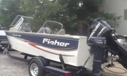 2008 Fisher Hawk 186 (same asTracker Targa) 18.5' Fish & ski boat. Welded aluminum hull with 150 hp Mercury OptiMax - fuel injected, oil injected, air injected. Walk through windshield. GPS red it con