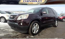 Options:  2008 Gmc Acadia Slt-2|Slt-2 4Dr Suv|**Local Trade-In**|**Panoramic Moonroof!**|**Second Row Captains Chairs!**|**3Rd Row Seating!**|And **Fwd - Great All Year 'Round - Better Mpg!. Want To S